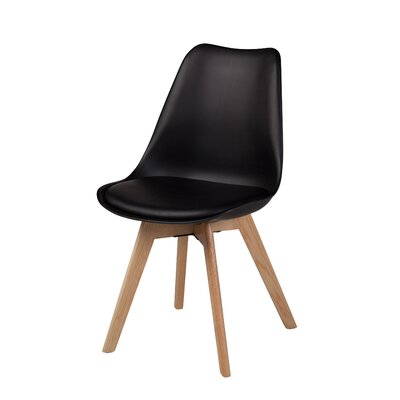 Jacobs Upholstered Dining Chair Upholstery Color: Black