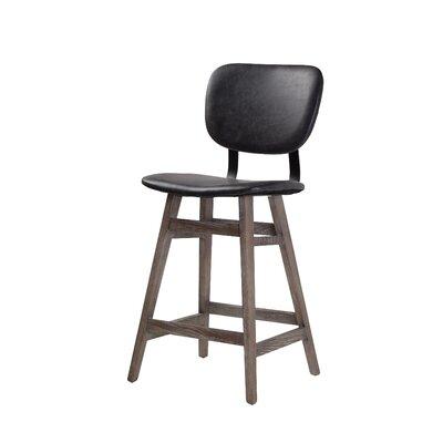 Williford 26 Bar Stool Upholstery: Black