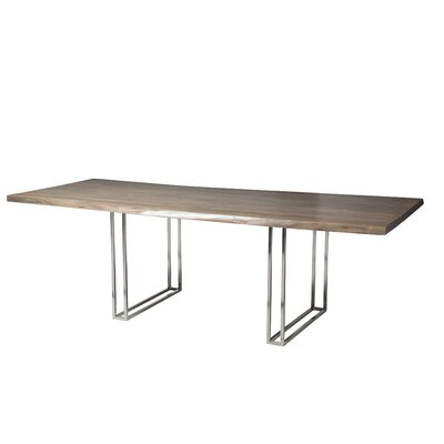 Ashly Live Edge Extendable Dining Table Finish: Galvanized