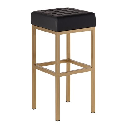 Castilla 30 Bar Stool Upholstery: Black