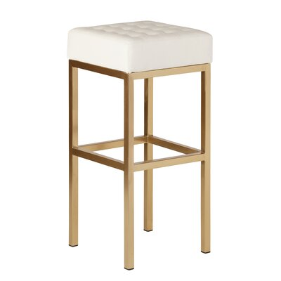 Castilla 30 Bar Stool Upholstery: White