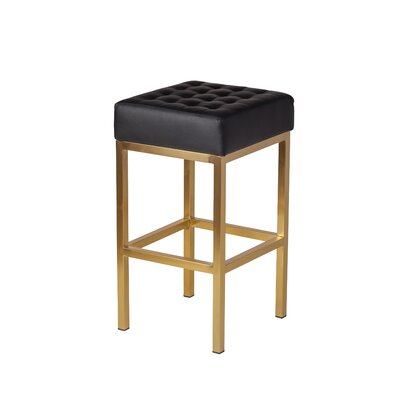 Castilla 26 Bar Stool Upholstery: Black
