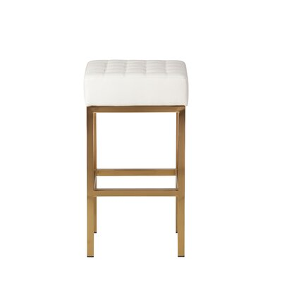 Castilla 26 Bar Stool Upholstery: White
