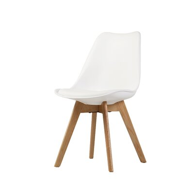 Jacobs Upholstered Dining Chair Upholstery Color: White