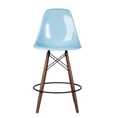 Balam Mid Century 26 Bar Stool Finish: Light Blue