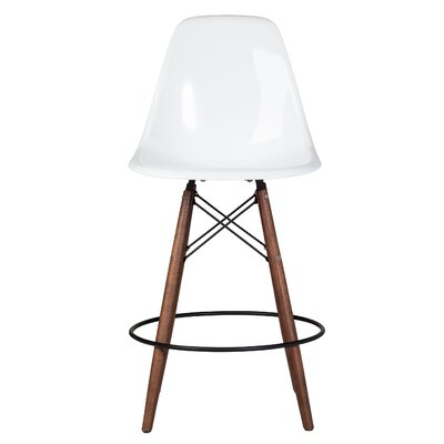 Balam Mid Century 26 Bar Stool Finish: White