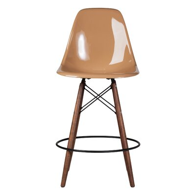 Balam Mid Century 26 Bar Stool Finish: Latte Brown