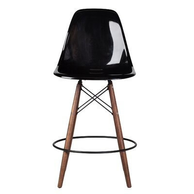 Balam Mid Century 26 Bar Stool Finish: Black