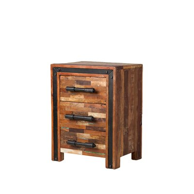 Jaipur Mixed Wood 3 Drawer Nightstand