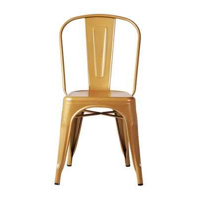 Terri Dining Chair Color: Gold