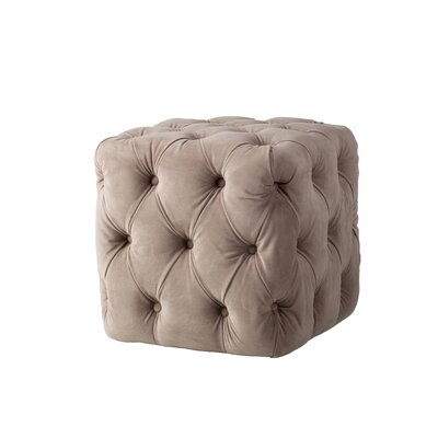 Brockton Tufted Ottoman Upholstery: Taupe