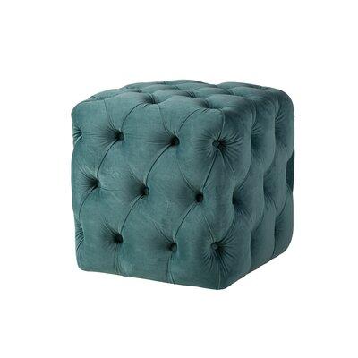 Brockton Tufted Ottoman Upholstery: Peacock Blue