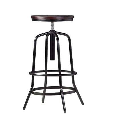 Rashon Adjustable Height Swivel Bar Stool