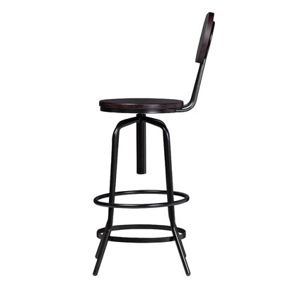 Rashon Contemporary Adjustable Height Swivel Bar Stool