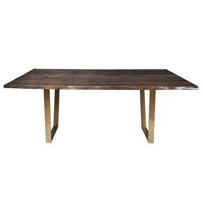 Sharmial Live Edge Dining Table Base Color: Gold V, Size: 35.5