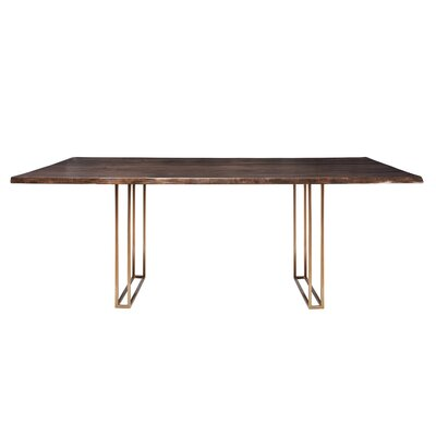 Sharmial Dining Table Base Color: Gold Cage, Size: 35.5 H x 84 W x 47 D