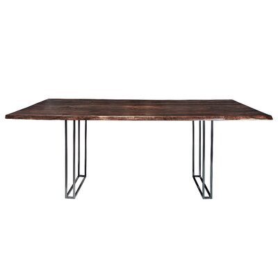 Sharmial Live Edge Dining Table Base Color: Matte Galvanized, Size: 35.5 H x 92 W x 47 D