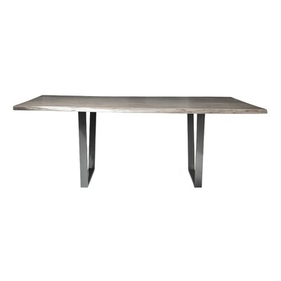 Sharmial Live Edge Dining Table Base Color: Matte Galvanized V, Size: 35.5
