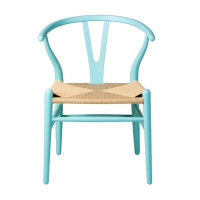 Amick Solid Wood Dining Chair Color: Blue