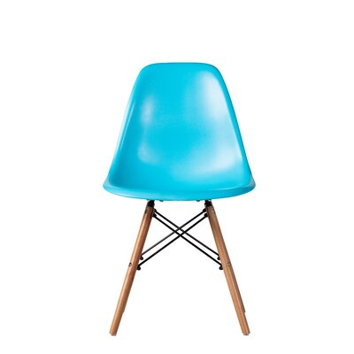 Bonetti Mid Century Dining Chair Color: Blue