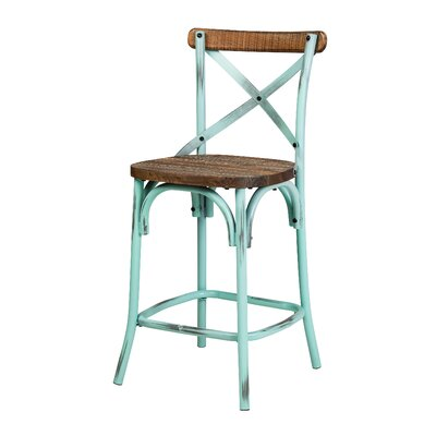 26 Bar Stool Finish: Antique Blue