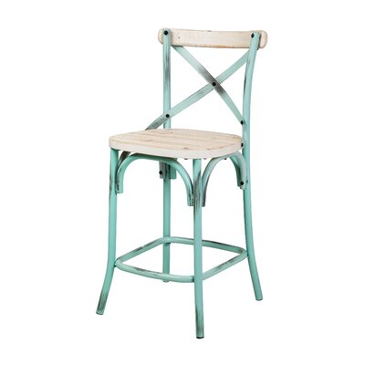 26 Bar Stool Finish: White Washed