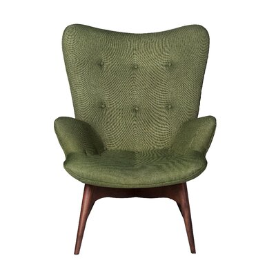 Contour Lounge Chair Upholstery: Green