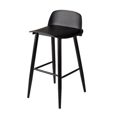 Blough 30 Bar Stool Color: Black