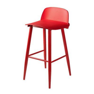 Blough 30 Bar Stool Color: Red