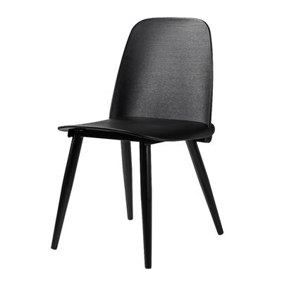 Croll Dining Chair Upholstery Color: Black