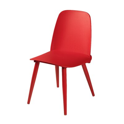 Croll Dining Chair Upholstery Color: Red