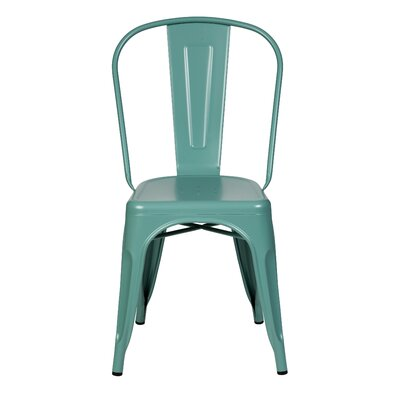 Terri Dining Chair Color: Teal Blue