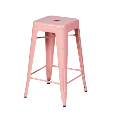Douglaston 26 Bar Stool Color: Pink