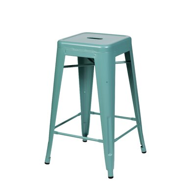 Douglaston 26 Bar Stool Color: Teal Blue