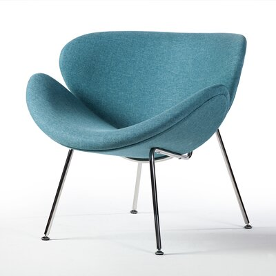 Paula Lounge Chair Upholstery: Blue