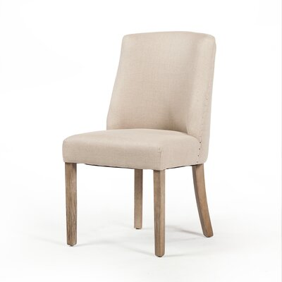 Maxey Dining Chair Upholstery Color: Light Tan