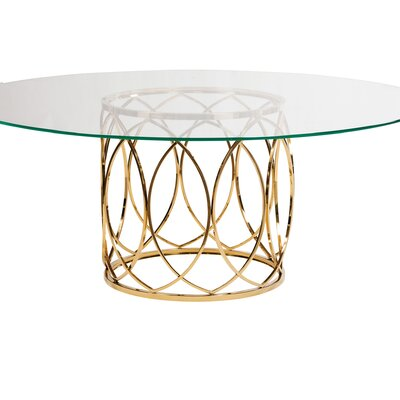 Jules Dining Table Color: Brushed Gold