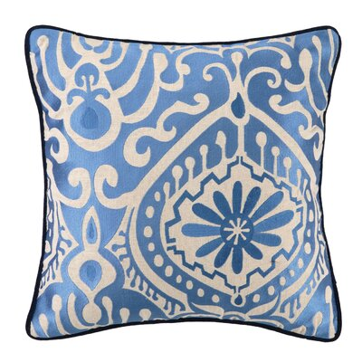 Citadel III Embroidered Linen Throw Pillow