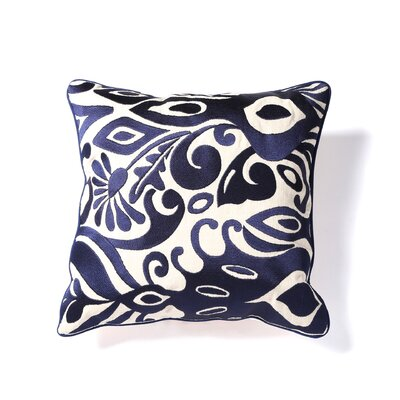 Citadel I Embroidered Linen Throw Pillow