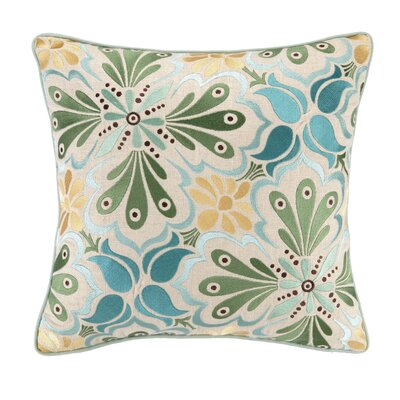 Talaverav I Embroidered Linen Throw Pillow