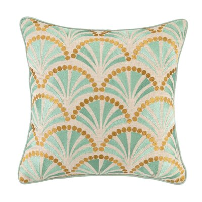 Talavera IV Embroidered Linen Throw Pillow