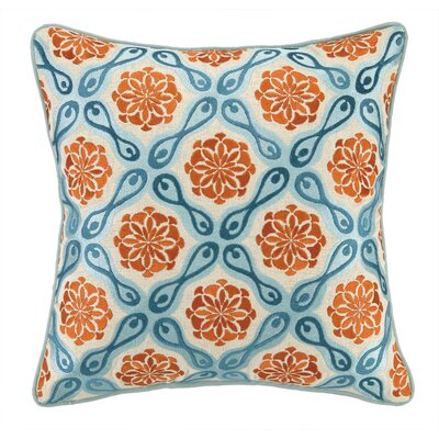 Bahir I Embroidered Linen Throw Pillow