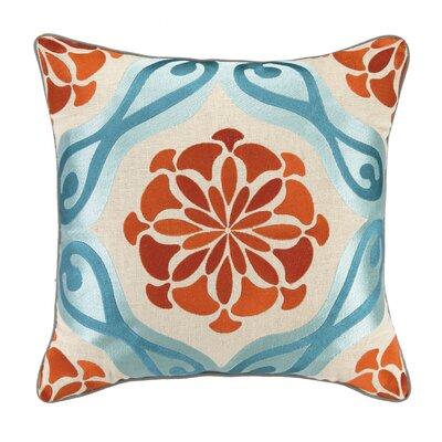 Bahir II Embroidered Linen Throw Pillow