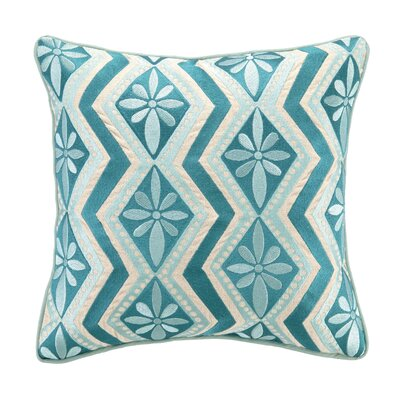 Bahir III Embroidered Linen Throw Pillow