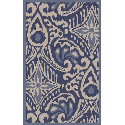 Marseille Hand Woven Wool Cobalt Area Rug Rug Size: Rectangle 8 x 11