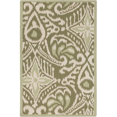 Marseille Hand-Woven Olive Area Rug Rug Size: Rectangle 8 x 11