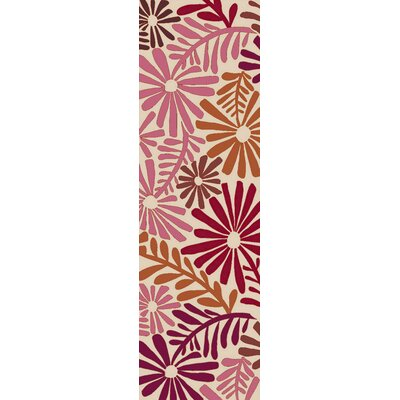 Aura Hot Pink Indoor/Outdoor Area Rug Rug Size: Runner 26 x 8