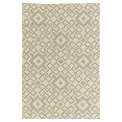 Aura Beige/Moss Indoor/Outdoor Area Rug Rug Size: 33 x 53