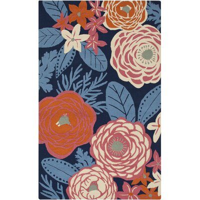 Aura Blue/Pink Indoor/Outdoor Area Rug Rug Size: Rectangle 33 x 53