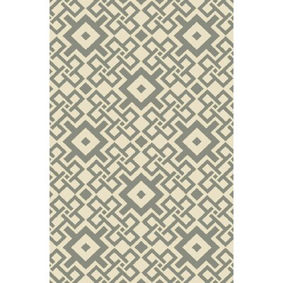 Aura Beige/Moss Indoor/Outdoor Area Rug Rug Size: Rectangle 33 x 53